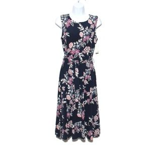 Charter Club Fit & Flare floral sleeveless Dress